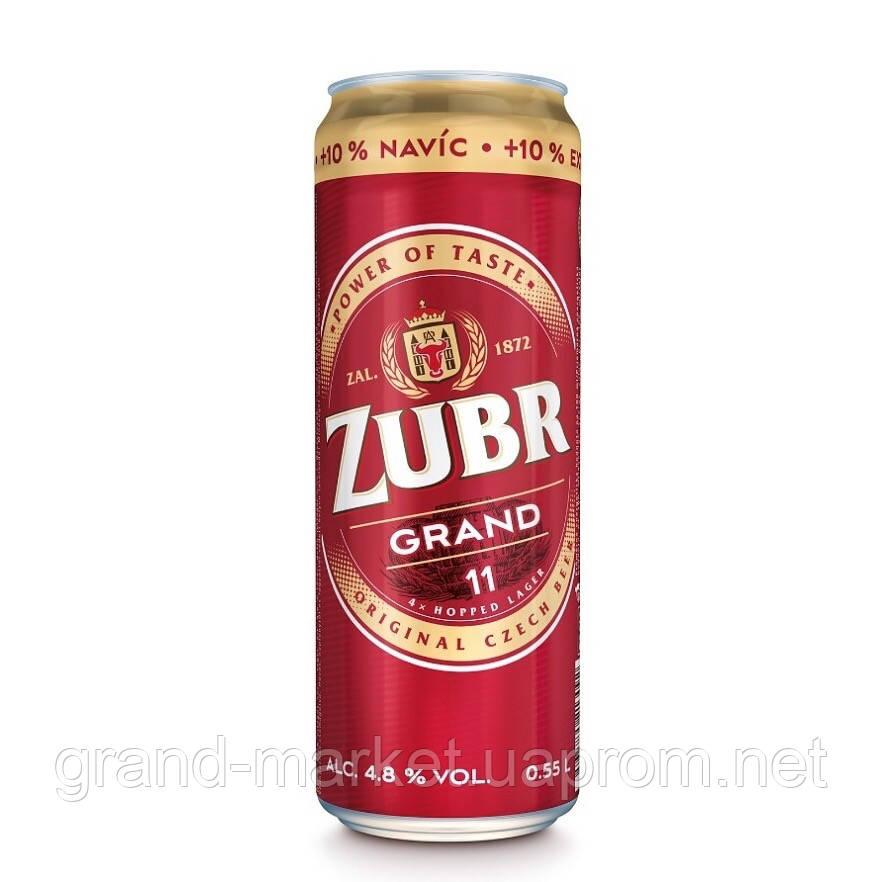 Пиво Zubr Grand 0.55 л