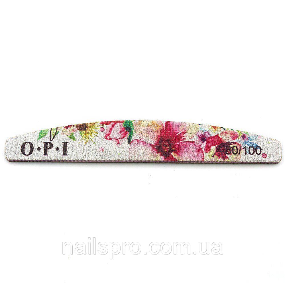 Пилочка для нігтів OPI 18 см 80/100 з квітами