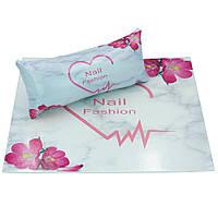 Підлокітник для манікюру з килимком набір Nail Fashion