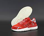 Мужские кроссовки Adidas Nite Jogger в стиле адидас найт джоггер КРАСНЫЕ (Реплика ААА+), фото 4