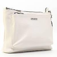 Белая женская маленькая сумка 591638 через плечо Velina Fabbiano летняя кросс-боди, фото 1