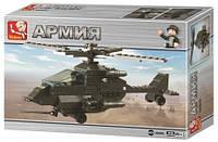 """Конструктор """"Армия. Военный вертолёт"""",158 дет Sluban (M38-B6200)"""