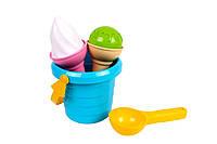 """Песочный набор""""Мороженое"""" (4 предмета) Технок (5736)"""