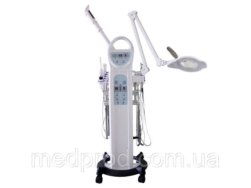 Косметологічний комбайн: вапоризатор, лампа-лупа, дарсонваль, вакуум, спрей, тепло/холод, УЗ-скрабер,-форез