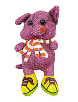 "Мягкая игрушка ""Блестящая мышка в кедах"" (малиновая) (H-54)"