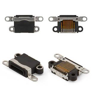 Коннектор зарядки iPhone 5, iPhone 5C, iPhone 5S, iPhone SE, Lightning, черный