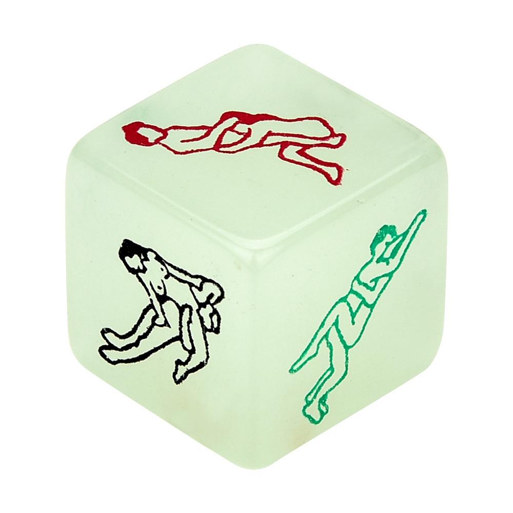 Секс игра Кубик с  позами светящийся в темноте