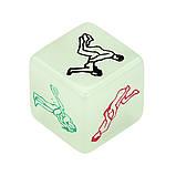 Секс игра Кубик с  позами светящийся в темноте, фото 7