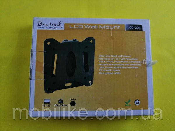 "Крепление  для телевизора Brateck LCD203  13-23"""