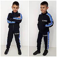 Спортивный костюм трехнить Mercedes синий/голубой (90%хлопок, 10%эластан)