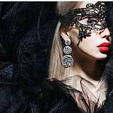 Женская карнавальная маска на глаза U, фото 7