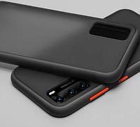 Накладка Gingle Matte Case для Huawei P40 Pro black/red (хуавей п40 про)