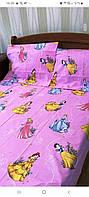 Дитячий полуторний комплект Принцеси-3, бязь(бавовна)