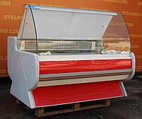 Гастрономічна вітрина холодильна «JBG» 1.5 м. (Польща), мармурова стільниця, Б/в, фото 1