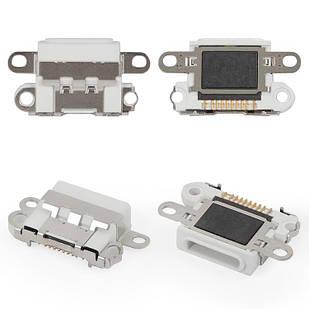 Коннектор зарядки iPhone 6S Plus Lightning, белый