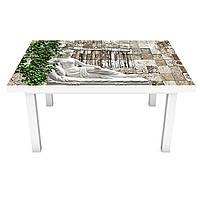 Наклейка на стіл Скульптура ПВХ інтер'єрна плівка для меблів під камінь Античність Сірий 600*1200 мм