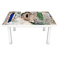 Наклейка на стол Серый Прованс (ПВХ интерьерная пленка для мебели) каменные улицы город 600*1200 мм, фото 1