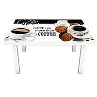 Наклейка на стіл City Coffee ПВХ інтер'єрна плівка для меблів кави зерна турка Білий 600*1200 мм