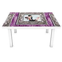 Наклейка на стіл Танець ПВХ інтер'єрна плівка для меблів картини малюнок рамки Фіолетовий 600*1200 мм, фото 1