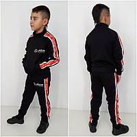 Спортивный костюм трехнить Mercedes черный/красный (90%хлопок, 10%эластан)