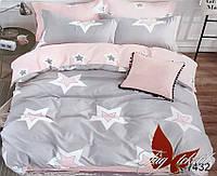 Полуторный комплект постельного белья - ранфорс с компаньоном R7432