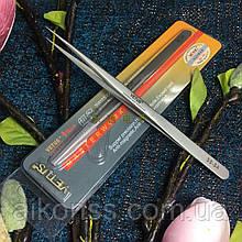 Пинцет Vetus SS-SA оригинал (140-мм) антимагнитный прямой высокоточный, 302-я сталь HRC40+