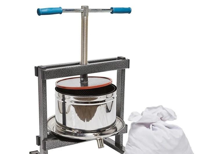 Ручной пресс для сока Вилен на 15 литров , нержавеющая сталь