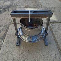 Ручний прес для соку Вілен на 20 літрів , нержавіюча сталь, фото 3