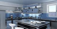 Подвесные алюминиевые реечные потолки зеркальный хром