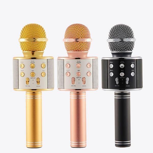 Беспроводной радиомикрофон караоке Wster WS-858 микрофон для Караоке детский с в Bluetooth блютуз q7 мікрофон