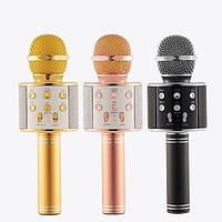 Беспроводной радиомикрофон караоке Wster WS-858 микрофон для Караоке детский с в Bluetooth блютуз q7 мікрофон, фото 1