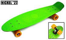 "Penny Board Nickel 27"".Green. Матовые колеса"