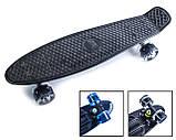 Скейт Black Penny Board на СВЕТ колесах, фото 2