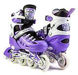 Ролики с защитой Scale Sports Фиолетовые, размер 29-33, фото 2