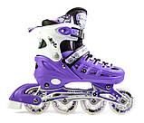 Ролики с защитой Scale Sports Фиолетовые, размер 29-33, фото 3