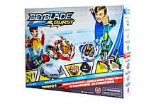 Набор Бейблейд Beyblade с ловушками роботами TD999К