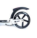 Двоколісний складаний самокат D-Max-9 з заднім ручним гальмом від Scale Sports. Білого кольору, фото 3