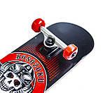 """Скейт дерев'яний FISH з принтом """"Череп"""". Польща. Навантаження до 90 кг!, фото 3"""