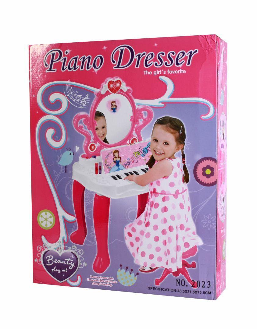 Игровой набор Пианино-Трюмо, с аксессуарами и стульчиком