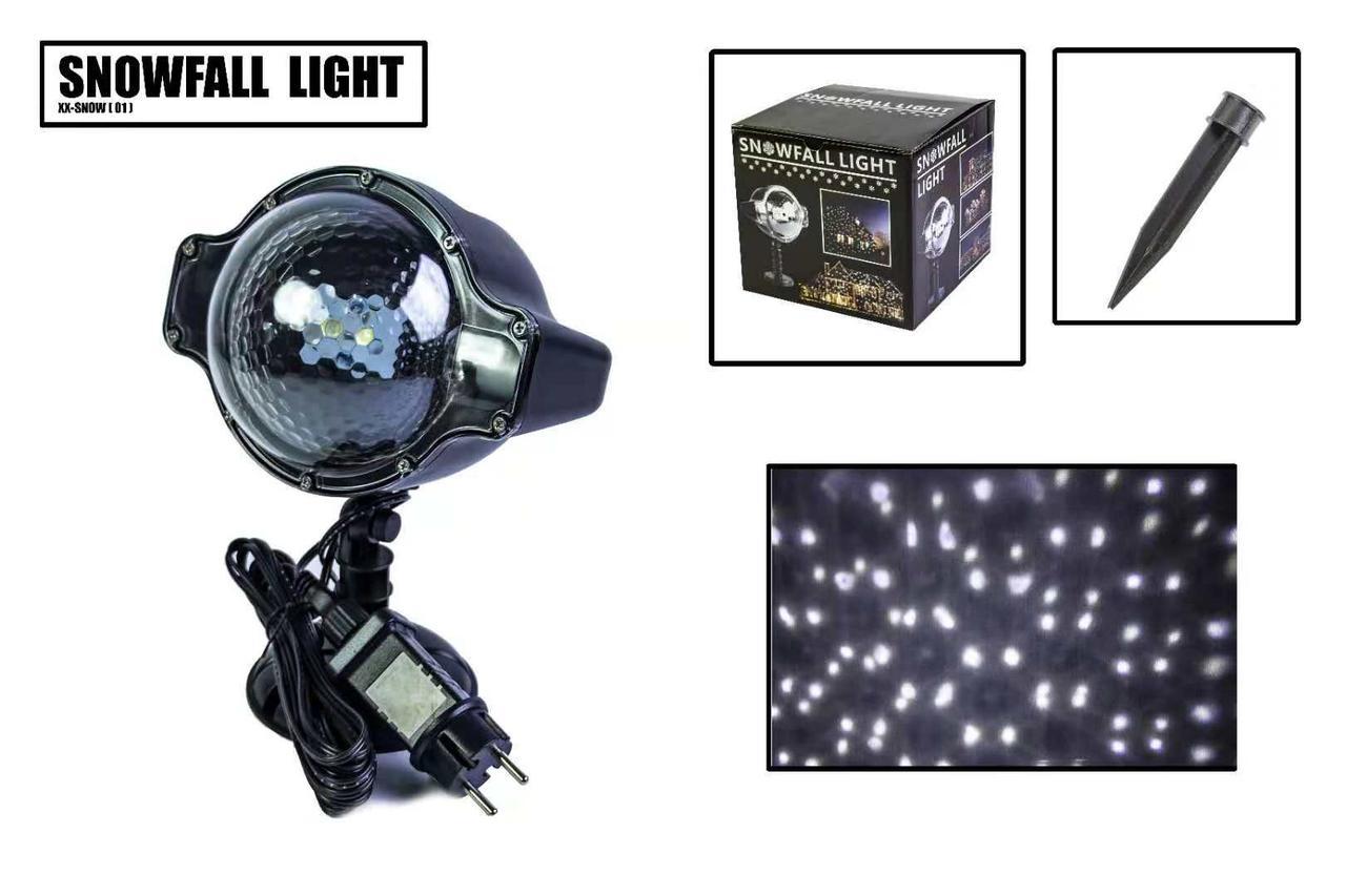 Новорічний вуличний лазерний проектор X-Laser XX-SNOW