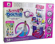 """Набор для доктора в чемодане Little Doctor """"Маленький Доктор"""" с чемоданом W087"""