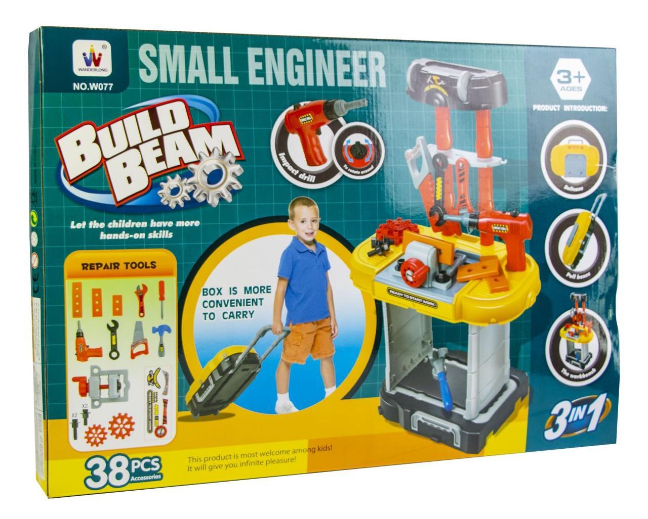 """Игровой набор """"Маленький инженер"""" с верстаком. 38 элементов"""
