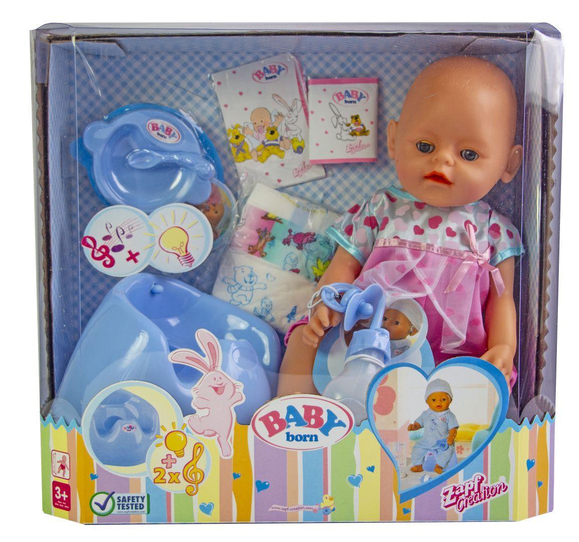 Кукла Baby Born (Бейби Борн) с аксессуарами, музыкальный горшок (К148)