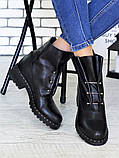 Ботинки Bruck черная кожа 6699-28, фото 3