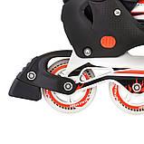 Ролики з PU колесами розсувні Scale Sports. Червоні, розмір 41-44, фото 4