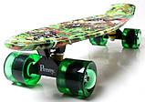 """Penny Board """"Green cane"""". Светящиеся колеса., фото 4"""