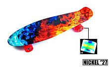 "Penny Board Nickel 27"" ""Fire and Ice"" Светящиеся колеса."