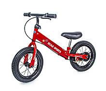 Велобег Scale Sports с дисковым тормозом, деткам от 2 лет. Красный