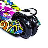 Детский самокат MAXI. Graffiti Hip-Hop. Светящиеся колеса!, фото 4