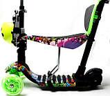 Самокат Scooter 5 в 1 с рисунком Graffiti Hip-Hop, фото 3